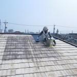 06_屋根塗装_中塗り中