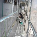 16_4階ベランダ柵、養生中